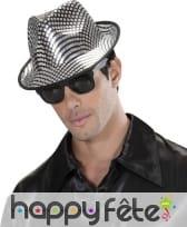 Borsalino noir avec carreaux argentés