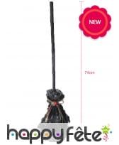 Balai noir de sorcière animé, 74cm, image 1