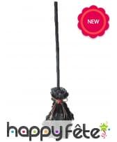 Balai noir de sorcière animé, 74cm