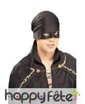 Bandana noir de Zorro pour adulte