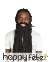 Barbe noire de rastafari pour homme