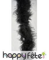 Boa noir de 2m à plumes