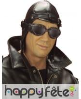 Bonnet noir d'aviateur