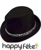 Borsalino noir en velours