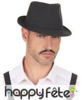 Borsalino noir uni, modèle luxe, image 2