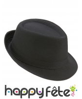 Borsalino noir uni, modèle luxe