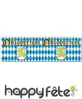 Bannière Oktoberfest bleue et blanche, 120cm