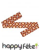 Bandeau orange motifs années 70, image 1