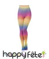 Bas opaques multicolores années 80