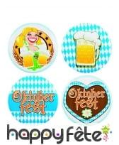 Badges Oktoberfest ronds, par 4