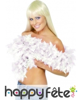 Boa plume blanche 180 cm