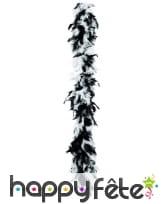 Boa plume blanche et noire 180 cm