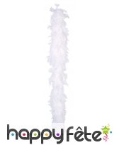 Boa plumes blanches180 cm