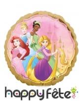 Ballon Princesses Disney rond recto verso de 43 cm, image 1