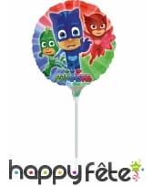 Ballon Pyjamasques de 23cm avec tige
