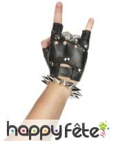 Bracelet punk de longs clous argentés, image 1