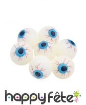 Balle phosphorescente en forme de yeux