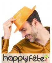 Borsalino pailleté en plastique fin, image 1