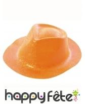 Borsalino pailleté en plastique fin, image 3