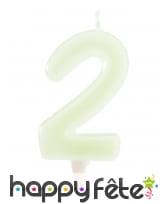 Bougies phosphorescentes en chiffres de 6 cm, image 3