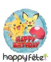 Ballon Pokémon Happy Birthday de 43cm
