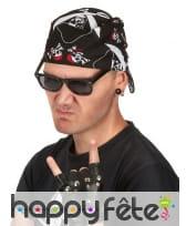 Bandana pirate imprimé têtes de mort, image 1