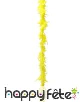 Boa plumes jaune