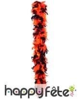 Boa plume noire et orange 180 cm
