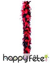 Boa plume noire et rouge 180 cm