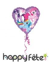 Ballon petit poney en forme de coeur