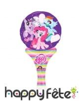 Ballon petit poney rose de 15x30cm