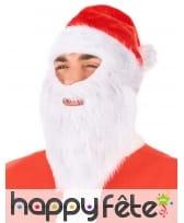 Bonnet rouge avec barbe de Père Noël, image 1