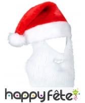 Bonnet rouge avec barbe de Père Noël