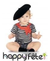 Body rayé blanc et noir pour bébé