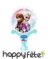 Ballon reine des neiges de 15 X 30cm