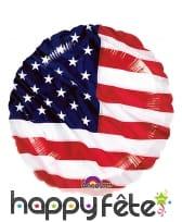 Ballon rond drapeau américain