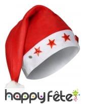Bonnet rouge de Noël avec étoiles lumineuses, image 1