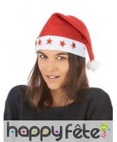 Bonnet rouge de Noël avec étoiles lumineuses, image 2