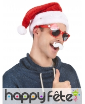 Bonnet rouge de Père Noël étoiles lumineuses, image 3