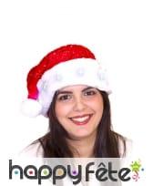 Bonnet rouge de Père Noël étoiles lumineuses, image 4