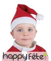Bonnet rouge de Père Noël taille enfant