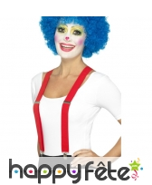 Bretelles rouges de clown