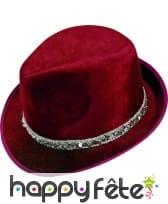 Borsalino rouge en velours
