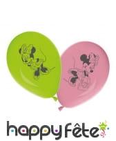 Ballons ronds imprimé Minnie Mouse