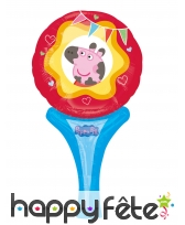 Ballon raquette Miss Peppa Pig de 30cm