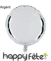Ballon rond métallisé, image 1