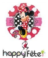 Ballon rond Minnie Mouse à pois, 43 cm