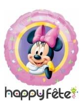 Ballon rond Minnie Mouse rose de 43 cm