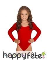 Body rouge manches longues pour enfant