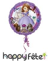 Ballon ronde Princesse Sofia de 23cm